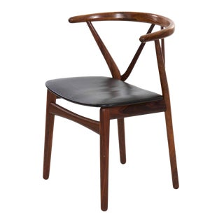 Danish MCM Hoop Arm Chair by Henning Kjaernulf, Circa 1950s