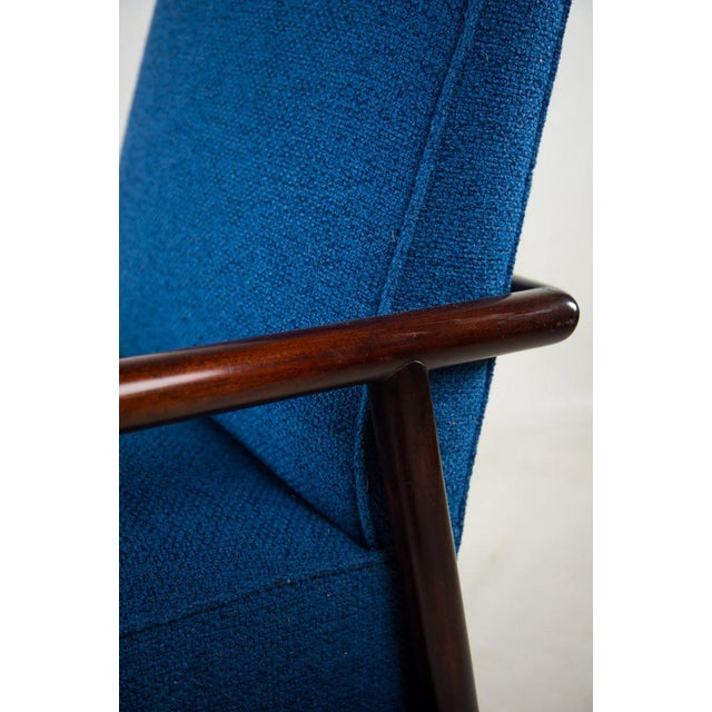 Blue Jens Risom for Knoll Mid-Century Modern Blue Lounge Chair For Sale - Image 8 of 13