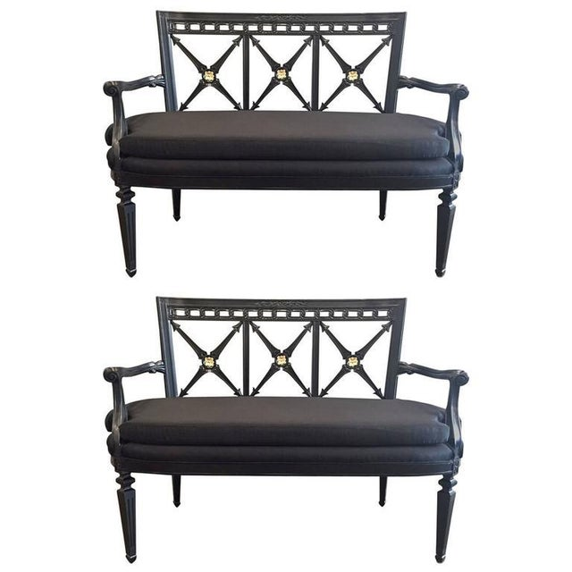 Two Louis XIV Style Loveseats For Sale - Image 9 of 9