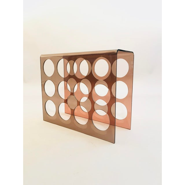 1960s Copper Tint Acrylic Wine Rack For Sale - Image 4 of 4