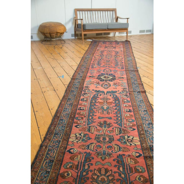 "Vintage Lilihan Rug Runner - 3'1"" x 17'9"" For Sale - Image 10 of 10"