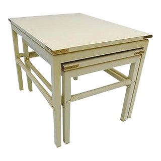 90's Modern Style Costume Made for Interior Designer Nesting Tables S (2) For Sale