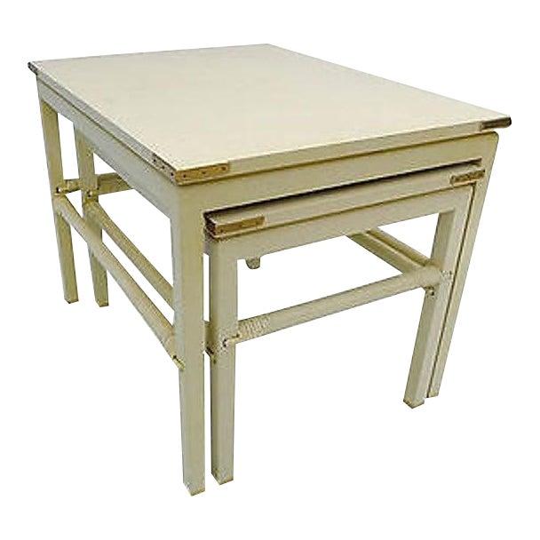 90's Modern Style Costume Made for Interior Designer Nesting Tables S (2) For Sale