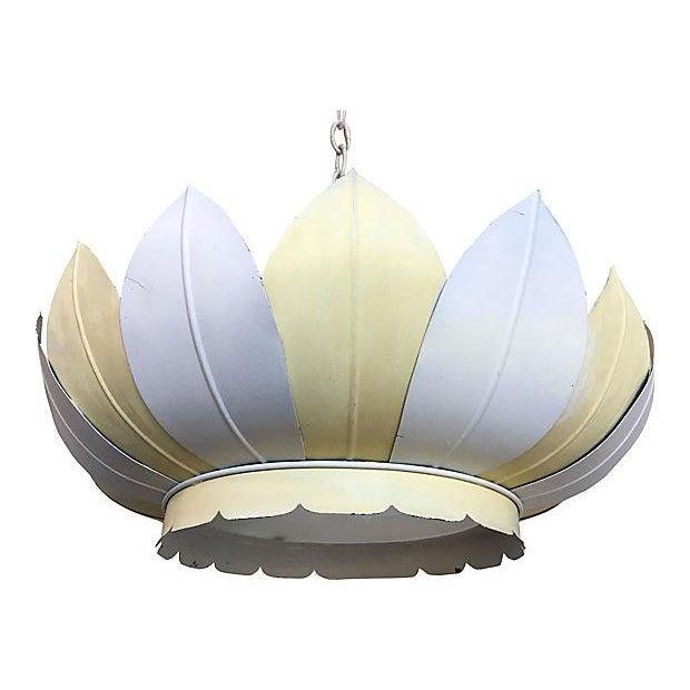 Vintage Striped Lotus Pendant Light - Image 4 of 7