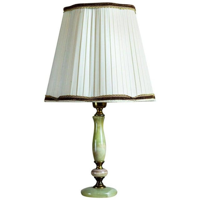 1950s Onyx Table Lamp For Sale - Image 10 of 10