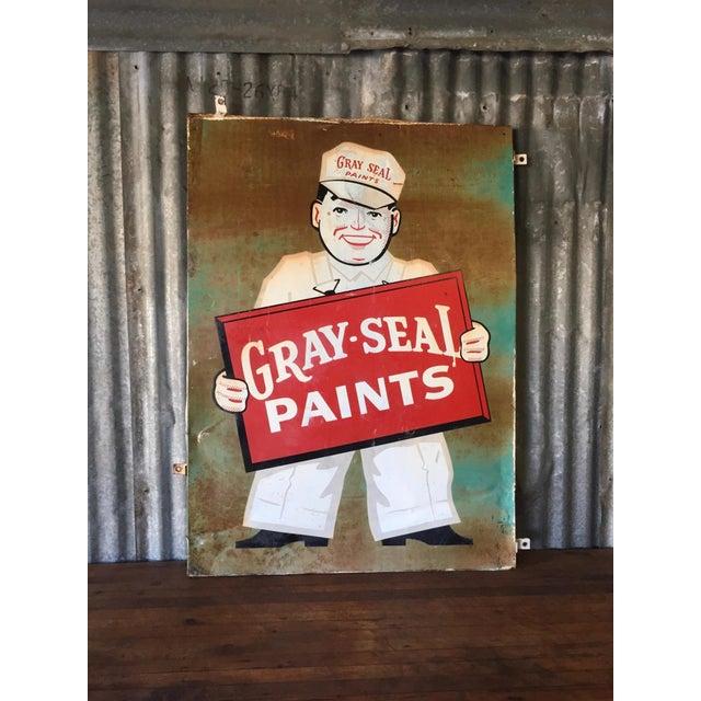 Vintage Original Gray-Seal Paints Sign - Image 3 of 10