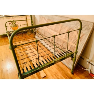 Antique French Country Iron Bedframe Preview