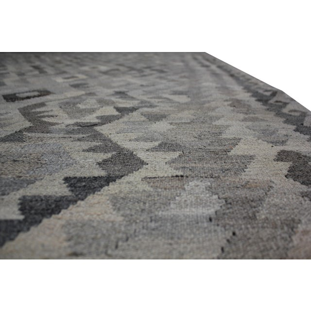 "Aara Rugs Inc. Hand Knotted Modern Kilim Rug - 6'11"" x 9'10"" For Sale In Los Angeles - Image 6 of 6"