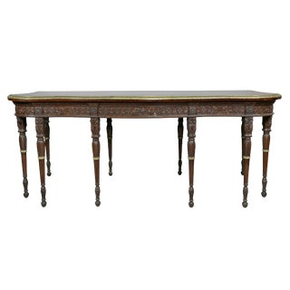 George III Style Carved Mahogany Serving Table For Sale