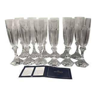 "St. Louis Chambord 9"" Crystal Champagne Flutes - Set of 12"