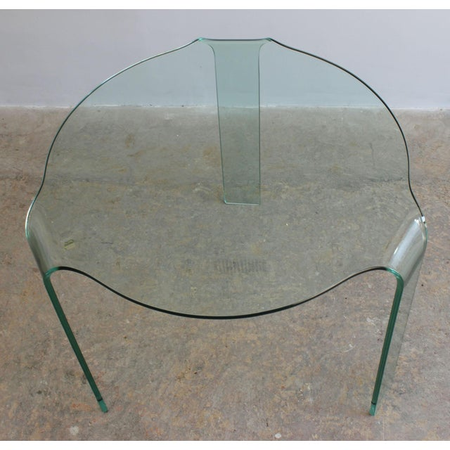 Mid-Century Modern Fiam Italy Molded Glass Table For Sale - Image 3 of 6