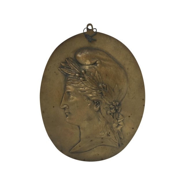 Nineteenth Century French Brass Plaque - Image 1 of 4