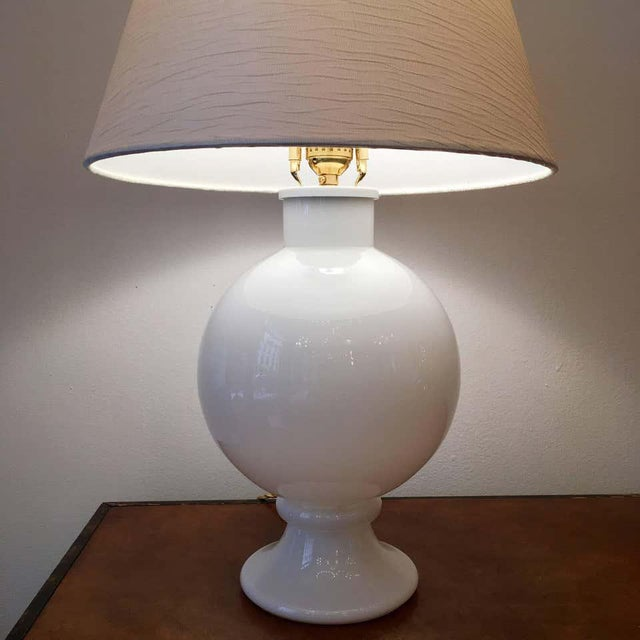 Mid-Century Modern Orrefors 1970s Swedish Glass Table Lamps - A Pair For Sale - Image 3 of 9