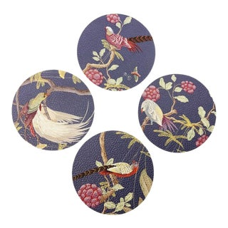 Pheasants and Forest Placemats by Allison Cosmos - Set of 4 For Sale