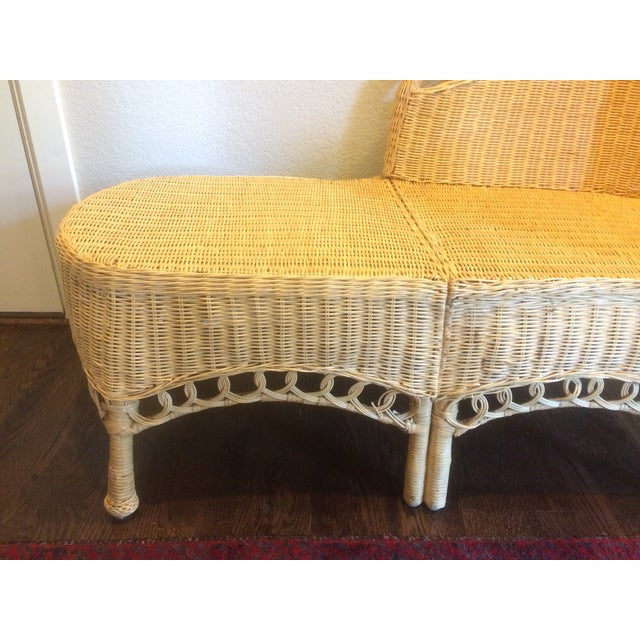 Vintage Wicker Chaise Lounge - Image 3 of 9