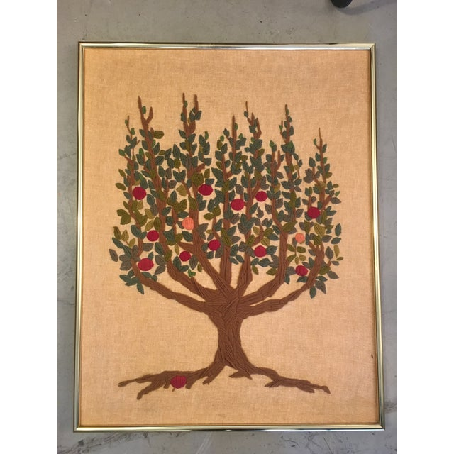 Vintage Tree of Life Tapestry For Sale In Miami - Image 6 of 6