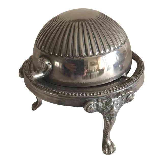 Mid-Century Silver Domed Tray - Image 1 of 8
