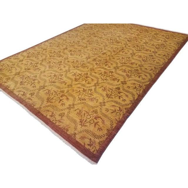Textile Kafkaz Peshawar Coralee Gold & Purple Wool Rug - 8'10 X 12'0 For Sale - Image 7 of 7