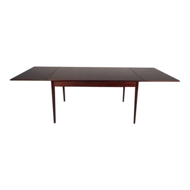 Vintage Edmund Jorgensen Modern Rosewood Draw Leaf Dining Table For Sale