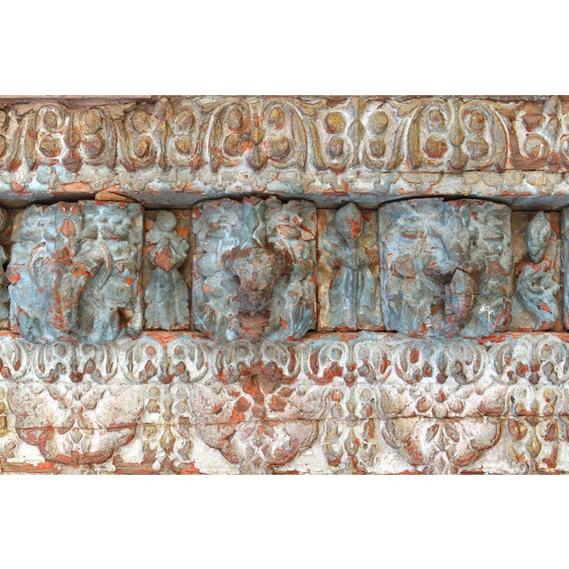 Wood Stunning Tribal Architectural Carved Beam For Sale - Image 7 of 12