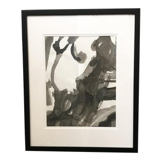 Figurative Ink Wash Painting For Sale