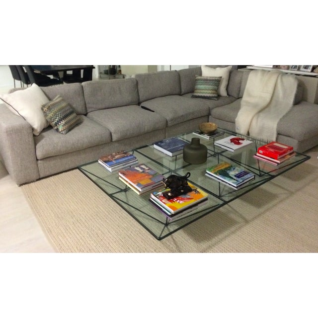 Mid-Century Modern Paolo Piva Alanda Rectangular Coffee Table for B&b Italia For Sale - Image 3 of 11