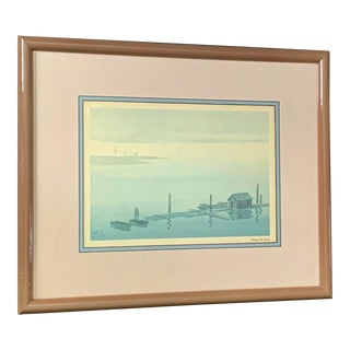 Mid-Century Original Charles Mulvey Signed & Framed Watercolor Painting For Sale
