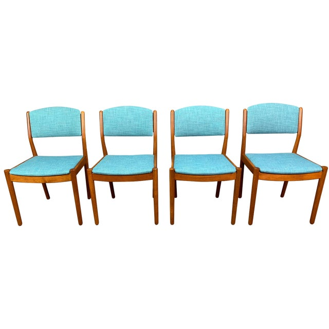 1960s Vintage Poul Volther Danish Modern Oak Dining Chairs- Set of 4 For Sale