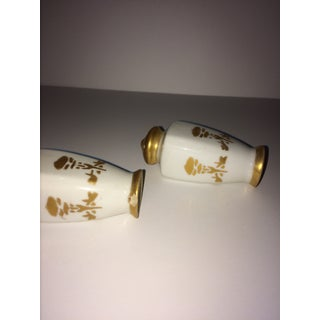 Salt and Pepper Shakers in Server, Osborne China, Gold Overlay Preview