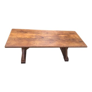 Vintage French Country Solid Wood Farm Table For Sale