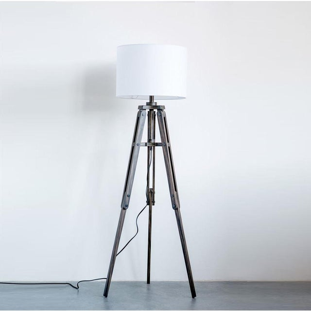 Not Yet Made - Made To Order Tripod Wooden Floor Lamp For Sale - Image 5 of 5
