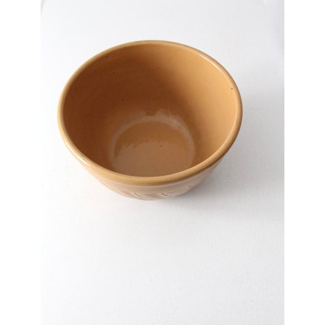 Vintage Yellow Ware Bowl For Sale - Image 4 of 8