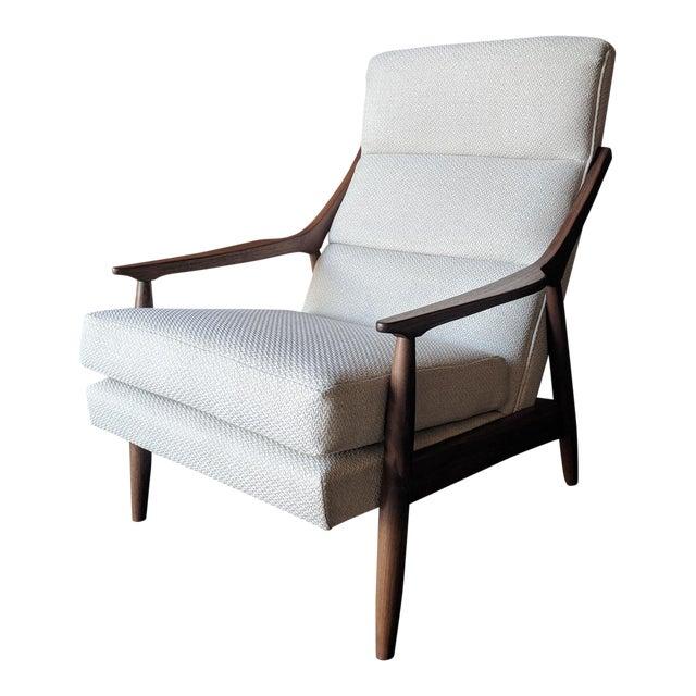 Custom Danish Mid Century Style Lounge Chair For Sale