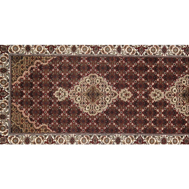 "Traditional Traditional Pasargad N Y Fine Tabriz Mahi Design Silk & Wool Rug - 2'6"" X 6'8"" For Sale - Image 3 of 4"
