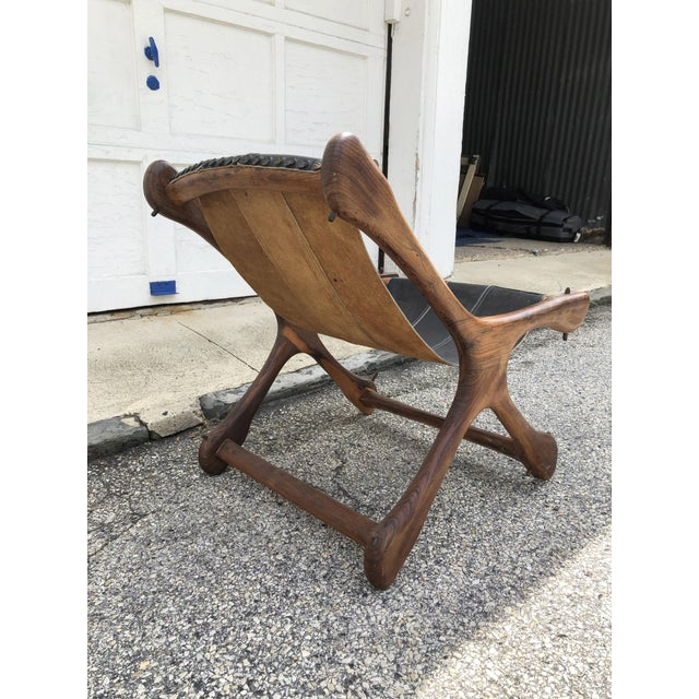 Mid Century Modern Don Shoemaker Rosewood Sling Chair by Senal For Sale In Philadelphia - Image 6 of 11