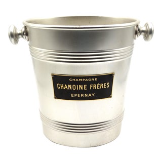 French Champagne / Wine Cooler Bucket, Chanoine Frères Epernay Company For Sale