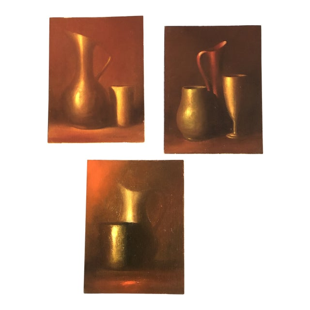 Gallery Wall Collection 3 Original Vintage Classic Still Life Paintings For Sale