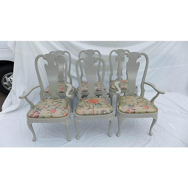 French Country Coastal Living Henredon Dining Chairs - S/6 For Sale - Image 3 of 9