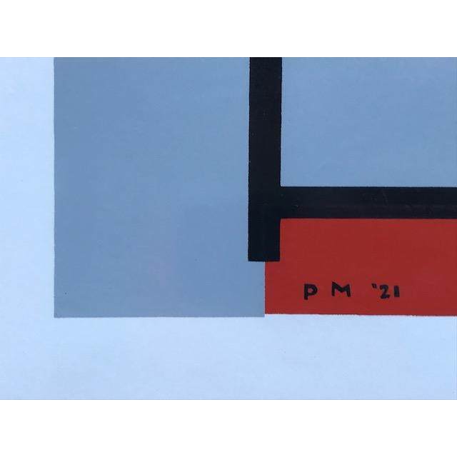"""Mid 20th Century 1970s Vintage Mondrian """"The Process Works"""" Original Pace Gallery, New York Poster For Sale - Image 5 of 6"""