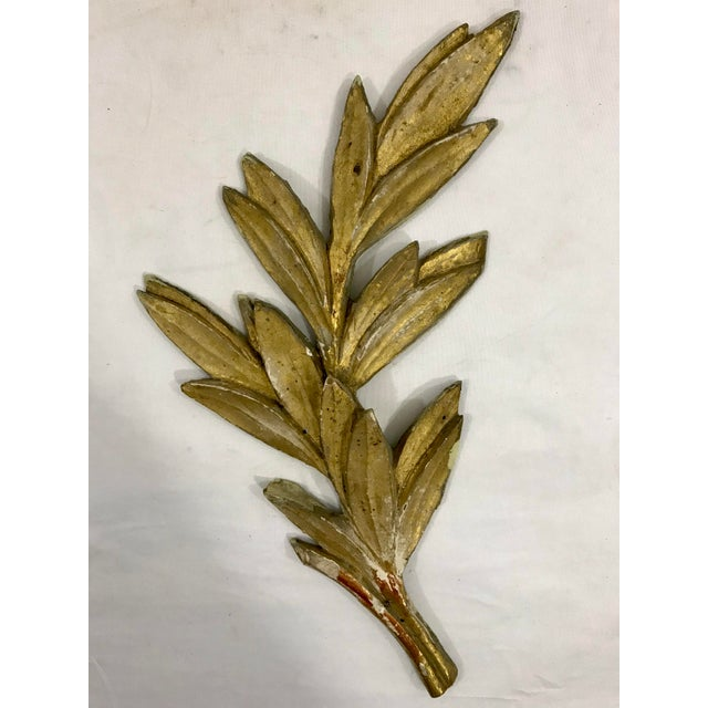 Louis XV Olive Leaf Boiserie Fragments a Pair For Sale - Image 4 of 6