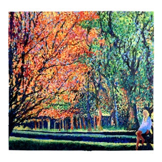 """""""Sunday in the Park"""" Geoff Greene Painting For Sale"""