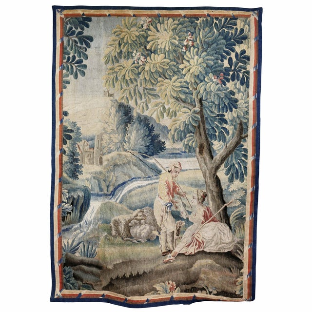 Aubusson Landscape Tapestry For Sale - Image 9 of 9