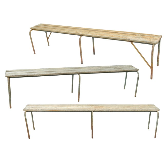 Pair of Swedish Industrial Benches For Sale