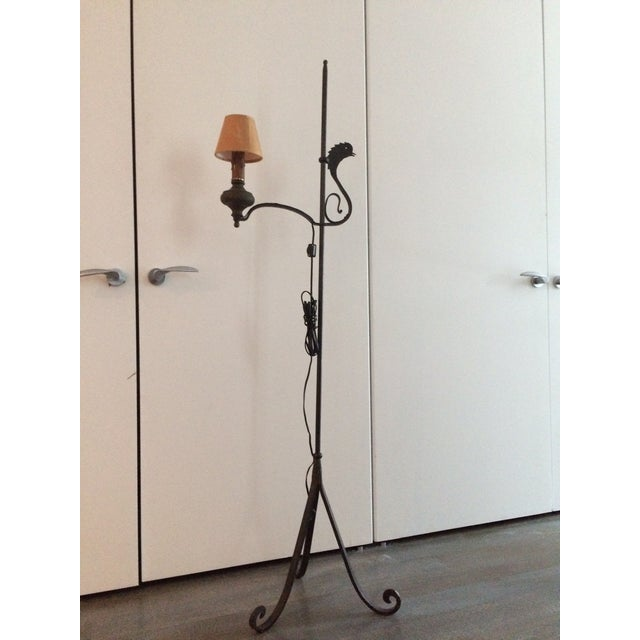 Early 19th Century Wrought Iron and Brass Oil Lamp For Sale - Image 10 of 12