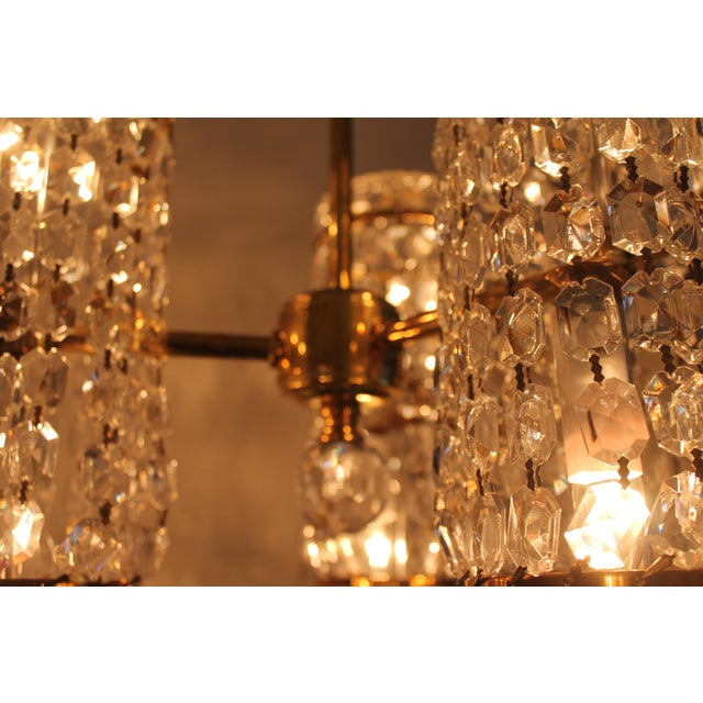 Mid-Century Authentic Crystal Signed Chandelier by Waterford Circa 1960's For Sale In Miami - Image 6 of 11