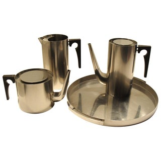 Arne Jacobsen Stelton Cylinda Beverage Set, Denmark - 4 Pc. Set For Sale