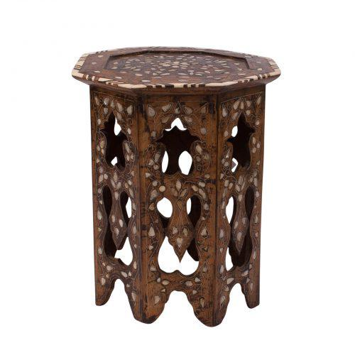 Moroccan Octagonal Inlaid Table   Image 4 Of 4