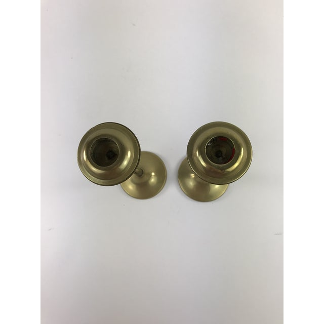 1960s 1960s Slender Brass Candlesticks - a Pair For Sale - Image 5 of 8