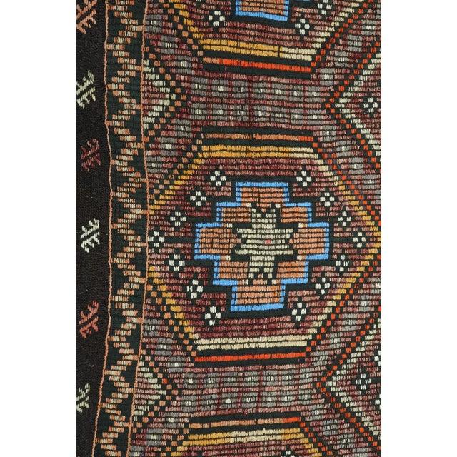 "Vintage Turkish Kilim Rug-7'6'x9'6"" For Sale - Image 11 of 13"