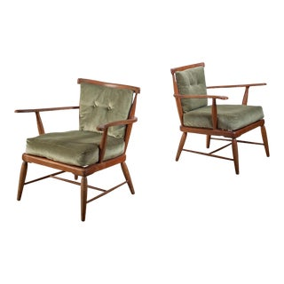 Pair of Anna Lülja Praun Chairs, Austria, 1960s For Sale